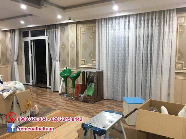 Thi công màn cửa nhà anh Quang quận Tân Phú
