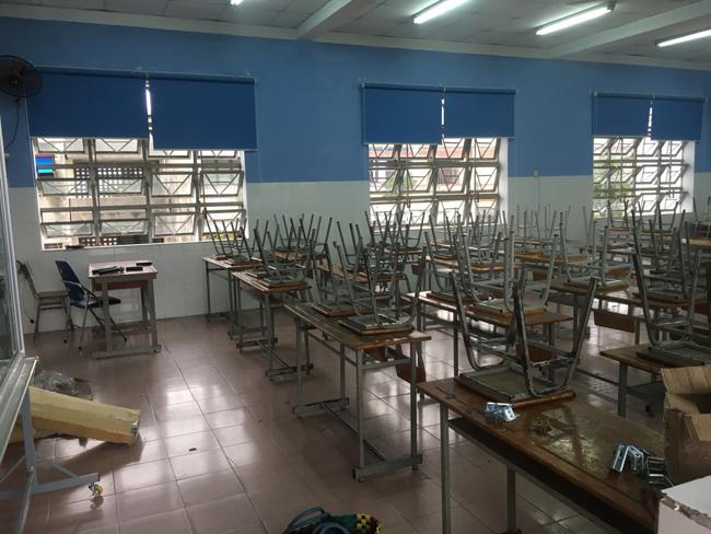 Màn cuốn chống nắng trường học quận Tân Bình