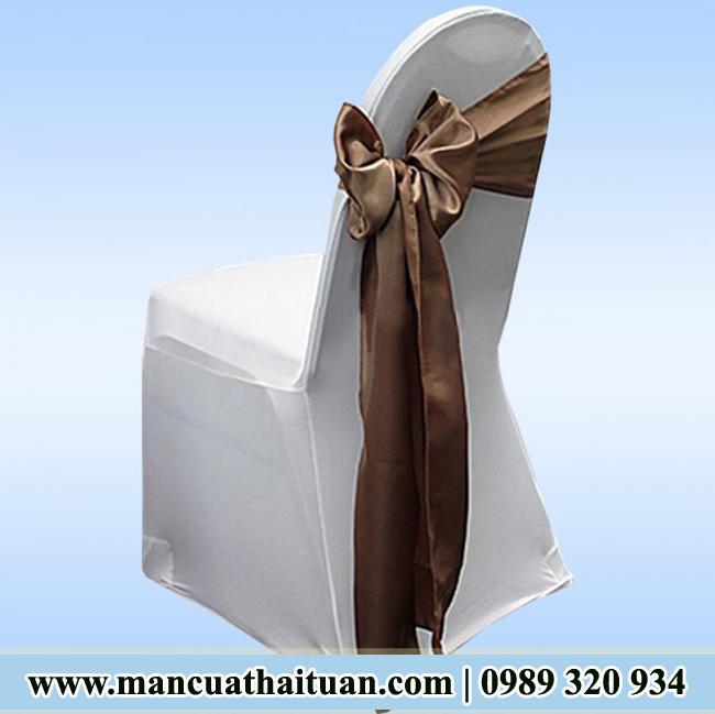 áo ghế vải thun sọc chéo cao cấp TT