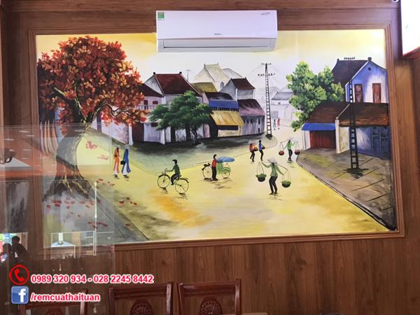 Màn cuốn in tranh 2 mặt dành cho nhà hàng quán phở quán cafe