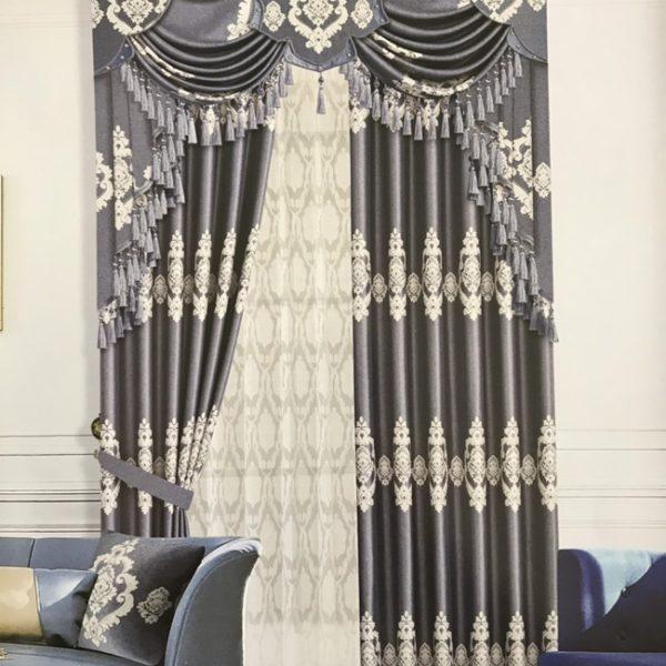 Rèm vải gấm cao cấp chống nắng TT14