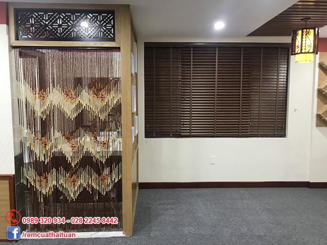 Thi công rèm cửa nhà hàng Tuấn Mập quận Tân Bình