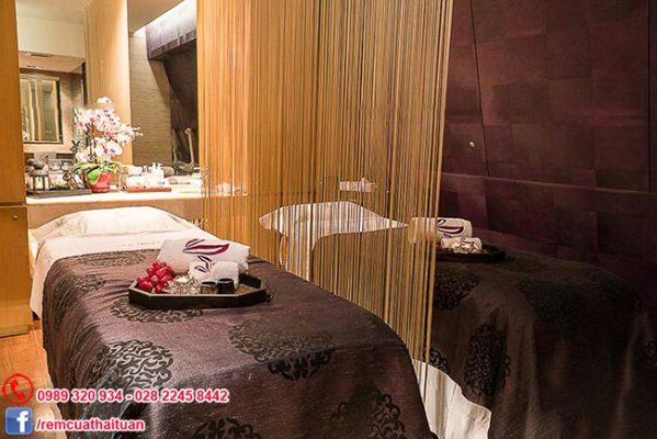 mẫu rèm spa ngăn giường độc đáo bằng sợi