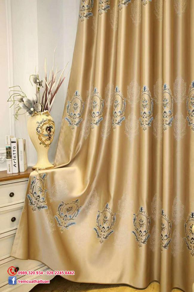 Rèm vải gấm chống nắng 3D