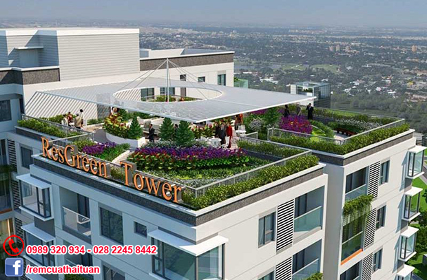 Lắp rèm cửa chung cư ResGreen Tower đường Thoại Ngọc Hầu quận Tân Phú