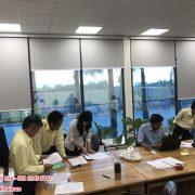 Lắp màn cuốn mô tơ tự động tại Công Ty CP Đầu Tư 577 tỉnh Bình Thuận