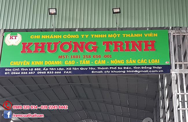 Thi công màn sáo lá công ty Khương Trinh tỉnh Đồng Tháp