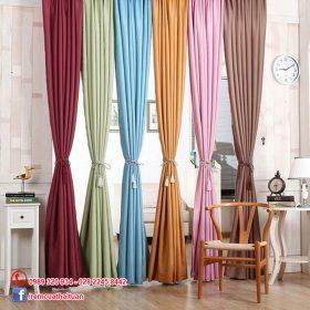 Rèm vải trơn một màu đẹp